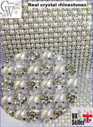 pearl ribbon diamante ivory pearl ribbon banding trim for wedding cake