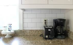 kitchen backsplash white subway tile temporary backsplash the tutorial the