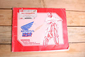 1989 honda cr125r cr125 oem owners manual and competition handbook