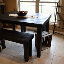 pub style kitchen table casual dining room design with 7 pieces