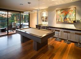 Pool Room Decor Semi Outdoor Modern Family Room Decorating Ideas With Big Painting