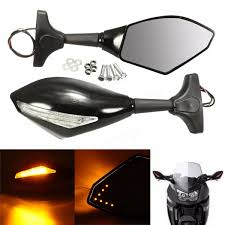 motorcycle rear view mirror with led turn signal for honda