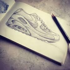 drawing pencil nike sketch airmax sketching airmax90 jeliodimitrov u2022