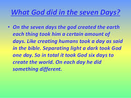 what day did god create light is the earth designed
