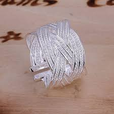 fine fashion rings images New style 925 sterling silver ring fine fashion big net weaving jpg
