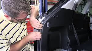 installation of a trailer wiring harness on a 2012 mazda cx 9