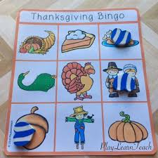 free thanksgiving bingo for preschool kindergarten ell or