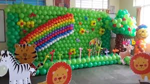 jungle themed birthday party balloon jungle theme birthday theme decorations in