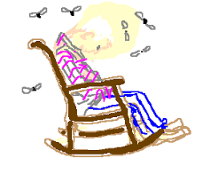 Old Man In Rocking Chair Rise And Shine Mr Freeman