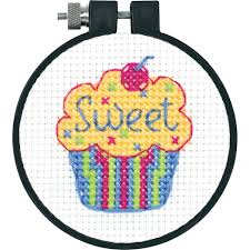 dimensions counted cross stitch kit cupcake