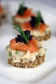 recette canape canapés au crabe saumon et caviar recettes de cuisine française
