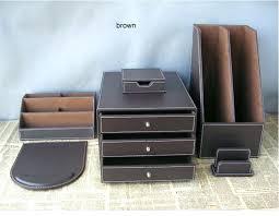 Leather Desk Accessories Uk Leather Desk Set Icedteafairy Club