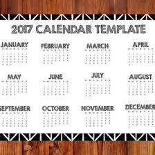 2017 hand drawn style calendar template 10431 dryicons