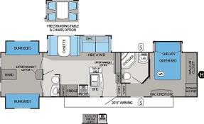 rv bunkhouse floor plans jayco eagle premier 365bhs floorplan fifthwheel shopping