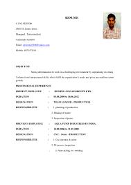 Resume For Cnc Operator Resume Star 1
