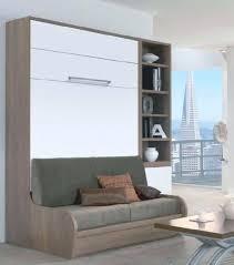 armoire lit avec canapé meuble avec lit integre lit escamotable canapac pas cher