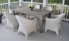 Kingsley Bate Reclaimed Teak Table And Wicker Chairs Elegant - Reclaimed teak dining table and chairs