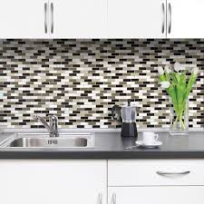 Smart Tiles Kitchen Backsplash Smart Tiles Murano Stone 10 2 In W X 9 10 In H Peel And Stick