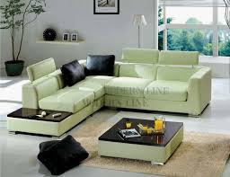 Green Sectional Sofa Modern Line Furniture Commercial Furniture Custom Made