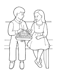 coloring pages for nursery lds children partaking of sacrament bread