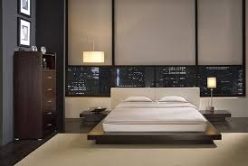 headboard with built in bedside tables cool queen moden bed manufacture wood construction black finish