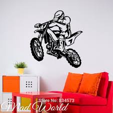 motor bike sports stickers reviews online shopping motor bike mad world dirt bike sport motor road silhouette wall art stickers wall decal home diy decoration removable decor wall stickers