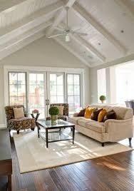 Cathedral Ceiling Living Room Ideas Cathedral Ceiling Living Room With White Ceiling Fan Living