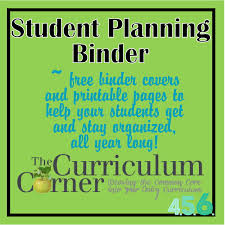 free teacher planner template student planning binder the curriculum corner 4 5 6 free student planning binder from the curriculum corner 456