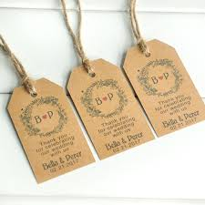 wedding gift tags 50 100pcs custom kraft paper personalized wedding tag thank you