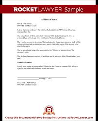 affidavit of death form death affidavit sample template