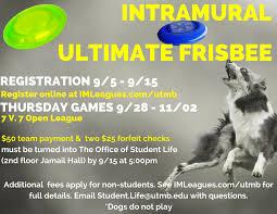 Utmb Campus Map Ultimate Frisbee