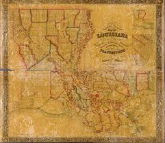 Map Louisiana louisiana state maps 1743 1907