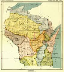 Wisconsin Map by Indian Land Cessions In The U S Wisconsin 1 Map 64 United