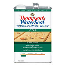 Home Depot Wood Stain Colors by Thompson U0027s Waterseal 1 Gal Clear Waterproofing Wood Protector Th
