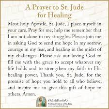 a st jude prayer for healing stjudeprayforus prayers