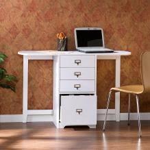 Convertible Desk Fold Out Convertible Desk Walnut