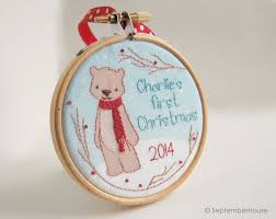 Custom Baby Ornaments 84 Best Baby U0027s First Christmas Ornaments Images On Pinterest