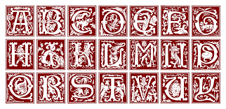 ornamental alphabet 16th century types of ty pog ra phy