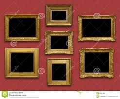 Gallery Wall Frames by Gallery Wall Gold Frames Royalty Free Stock Photo Image 34371985