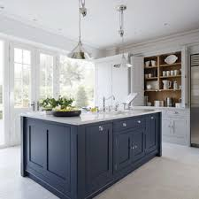 houzz blue kitchen cabinets 75 beautiful enclosed kitchen with blue cabinets pictures