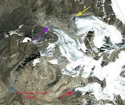 Hindu Kush Map Emend River Headwaters Glacier Retreat Hindu Kush Takhar
