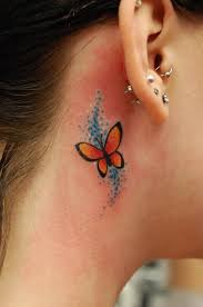 flower tattoos the ear free small butterfly tattoos