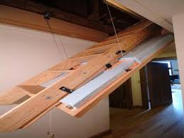 pull down attic stairs sliding loft ladders picture home
