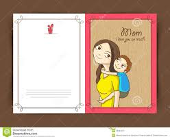 elegant greeting card design for happy mothers day stock