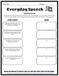sequencing events everyday speech everyday speech