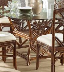 amazon com indoor rattan wicker rectangular dining table tc