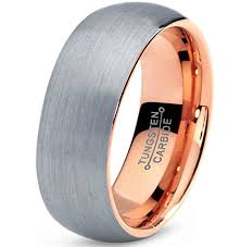 mens comfort fit wedding bands 7mm unisex or men s tungsten wedding band gray and gold