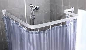 Ceiling Mount For Shower Curtain Rail Shower Rod Ceiling Support Shower Curtain Rod L Shaped Spirella