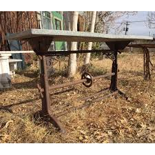Drafting Table Base Antique American Industrial Cast Iron Adjustable Architect S