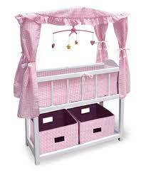 Pink Changing Table by Badger Basket Pink Gingham Canopy Doll Crib With Baskets Bedding